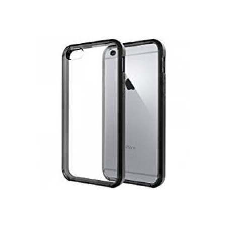 IPHONE 6/6S HOES ZWART + TEMPERED GLASS