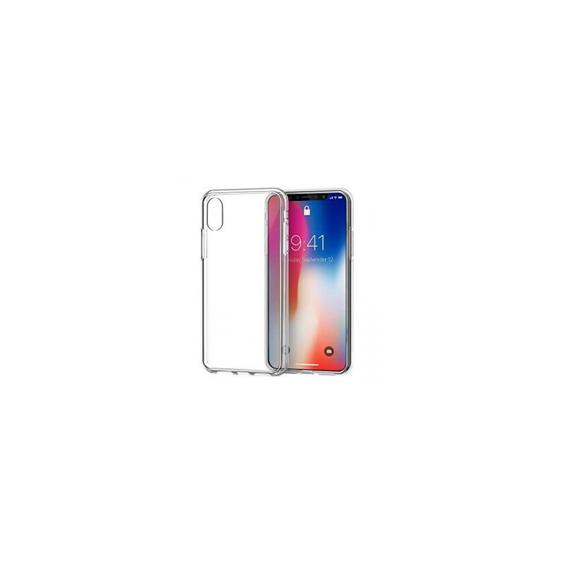 IPHONE X TRANSPARANTE HOES + TEMPERED GLASS