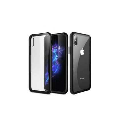 IPHONE X ZWARTE HOES + TEMPERED GLASS