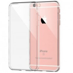 IPHONE 5S/SE HOES TRANSPARANT + TEMPERED GLASS