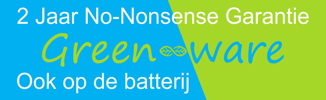 2 Jaar No-Nonsense Garantie - Ook op de batterij